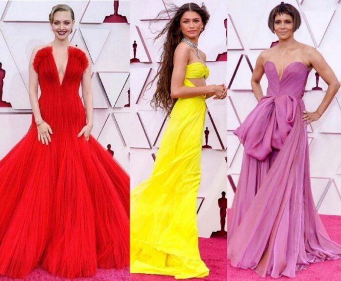 Warna-Merah-Mendominsi-Top-10-Best-Evening-Gown-Red-Carpet-Oscar-2021